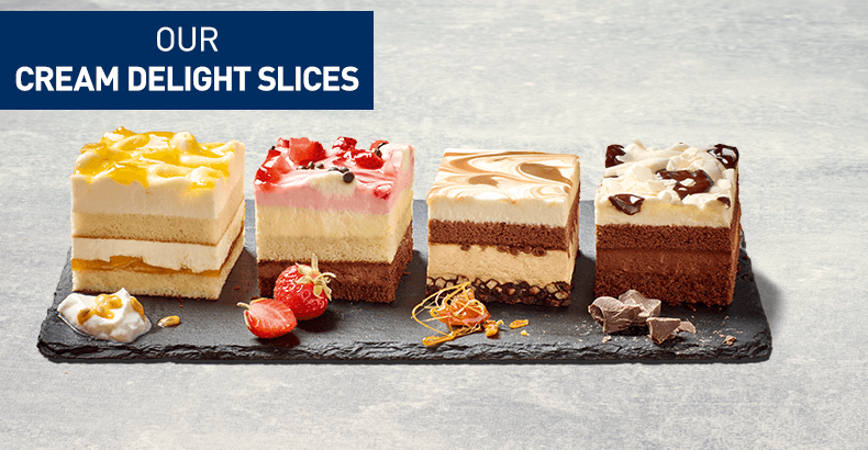 Our cream delight slices - The new genereation of cream slices